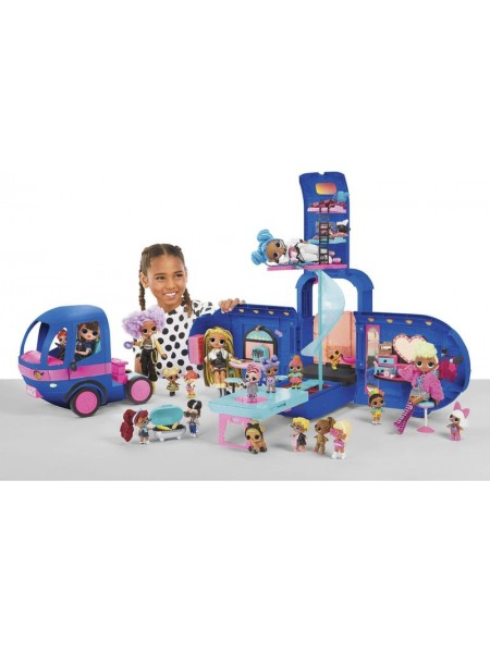 LOL Surprise OMG 4-in-1 Glamper Fashion Camper with 55+Surprises Electric
