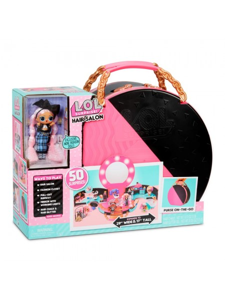 L.O.L. Surprise! Hair Salon Playset with 50 Surprises and Exclusive JK Mini Fashion Doll 571322