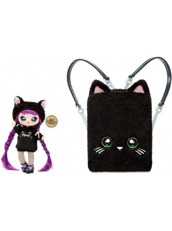 Na Na Na Surprise 3  в 1 Backpack Bedroom Black Kitty 569749 Playset with Limited Edition Doll